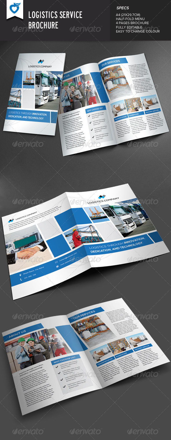 GraphicRiver Logistics Service Brochure 8109180