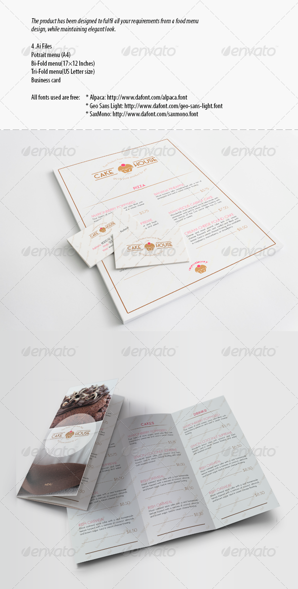 GraphicRiver Menu for the Cafe and Restaurant 7977301