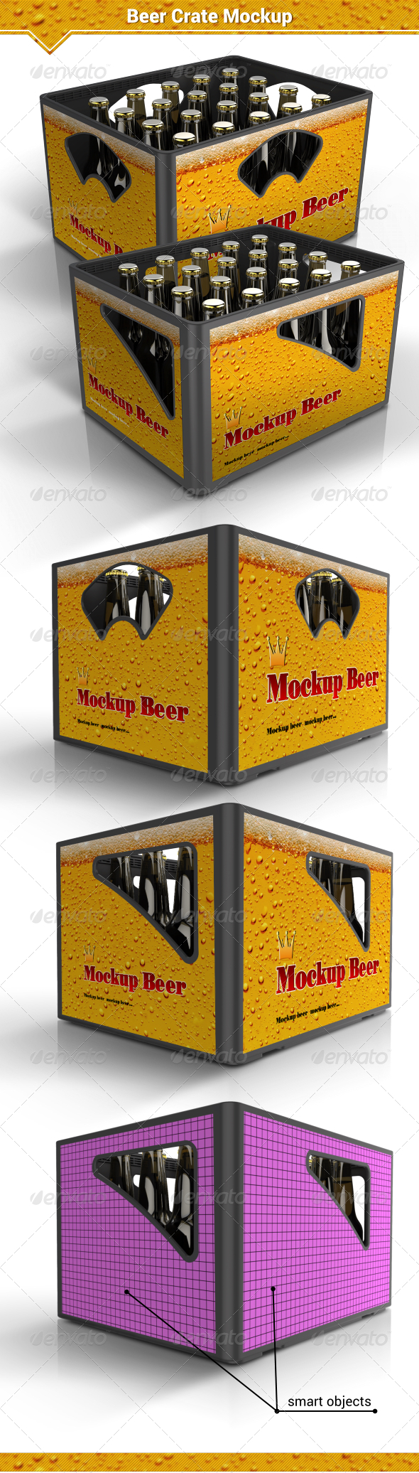 GraphicRiver Beer Crate Mockup 8109510