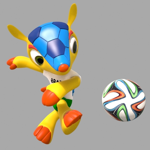Fuleco, World Cup 2014 Mascot - 3DOcean Item for Sale