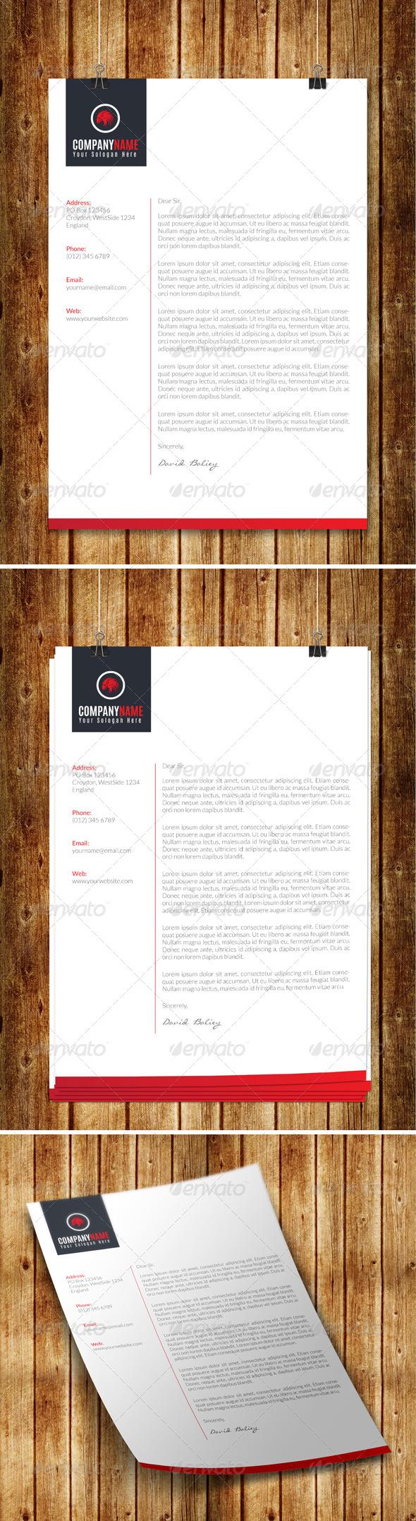 GraphicRiver Creative Corporate Letterhead 8109594