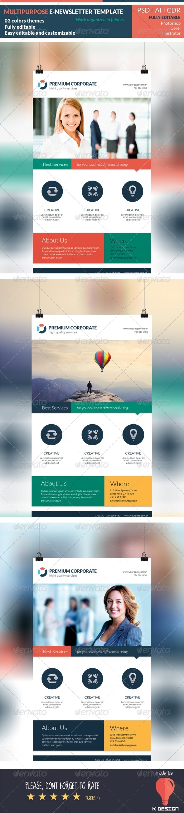 GraphicRiver Multipurpose E-newsletter Template 8085360
