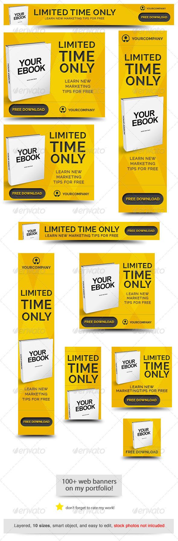 GraphicRiver Ebook Web Banner Template 8109657