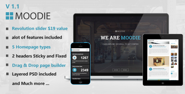 Moodie Multi-Purpose WordPress Theme