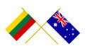 Flags of Lithuania and Australia, 3d Render, Isolated - PhotoDune Item for Sale