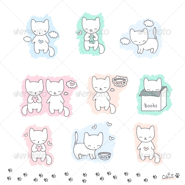 GraphicRiver Cats 8110113