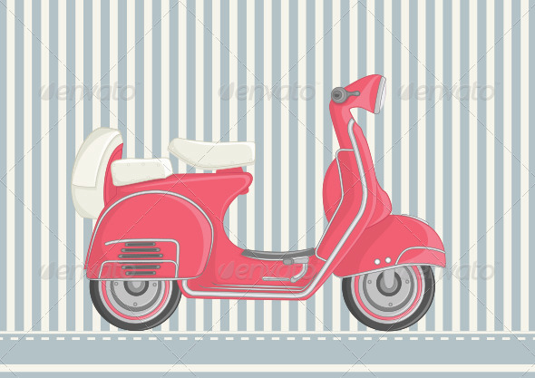 GraphicRiver Motor Scooter Illustration 8110139
