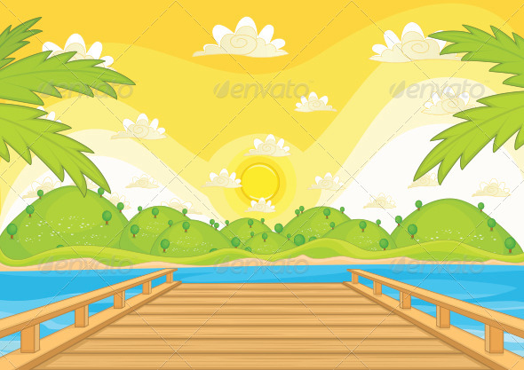 GraphicRiver Sunset Background 8110325