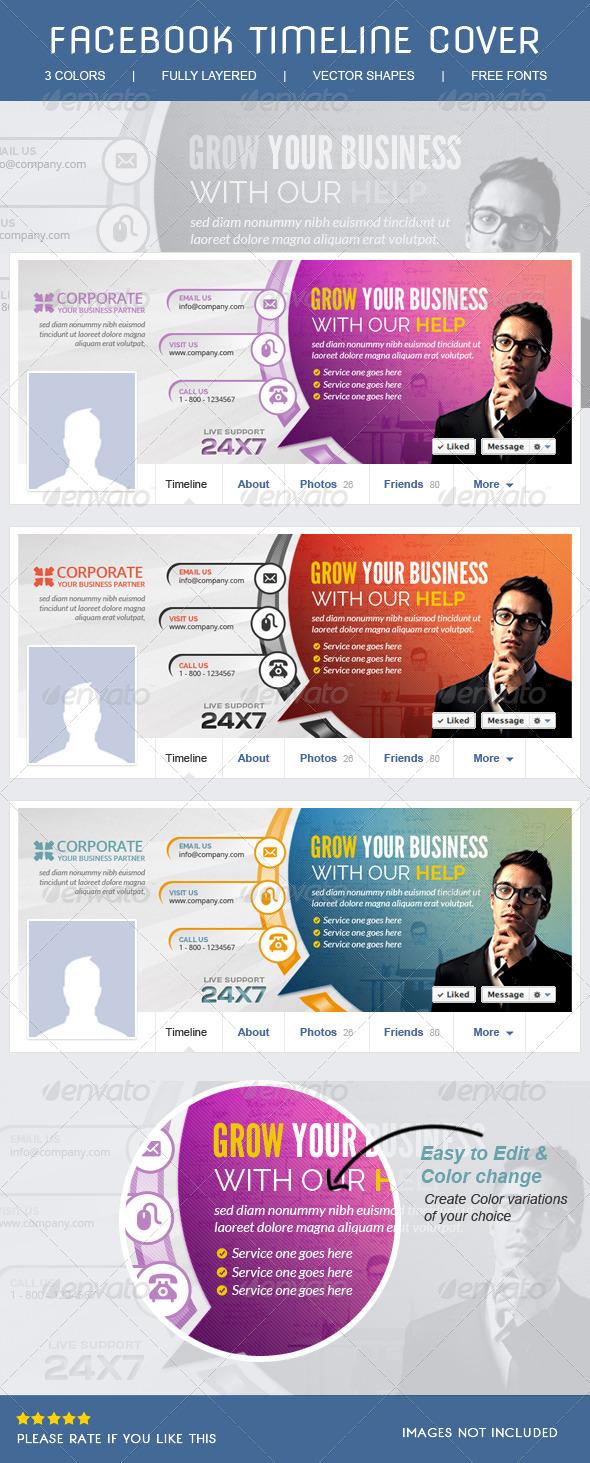 GraphicRiver Corporate Facebook Timeline 8109728
