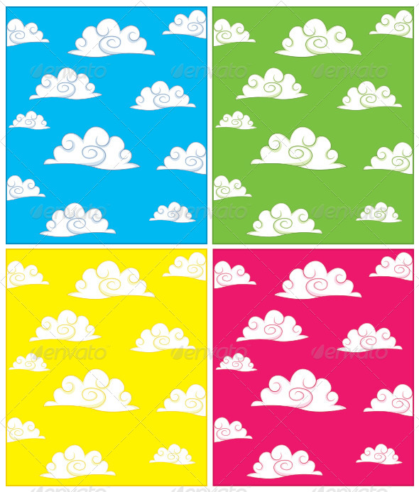 GraphicRiver Clouds Background Set 8110371
