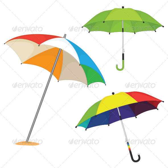 GraphicRiver Umbrella Illustrations Set 8110415