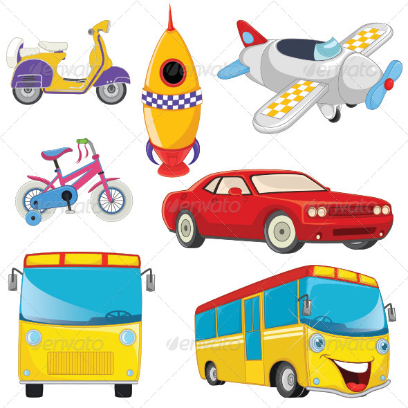 GraphicRiver Vehicle Illustrations Set 8110524