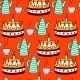 Seamless Pattern of Tea and Pie - GraphicRiver Item for Sale