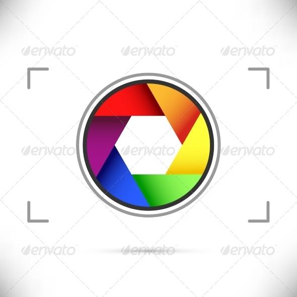 GraphicRiver Bright Rainbow Camera Shutter Diaphragm 8111281