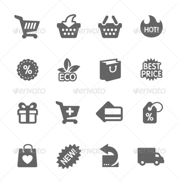 GraphicRiver Shopping Icons Set 8111632