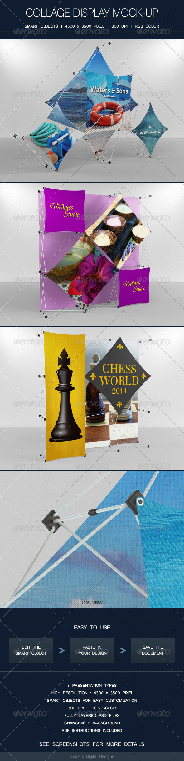 GraphicRiver Collage Display Mock-up 8111691