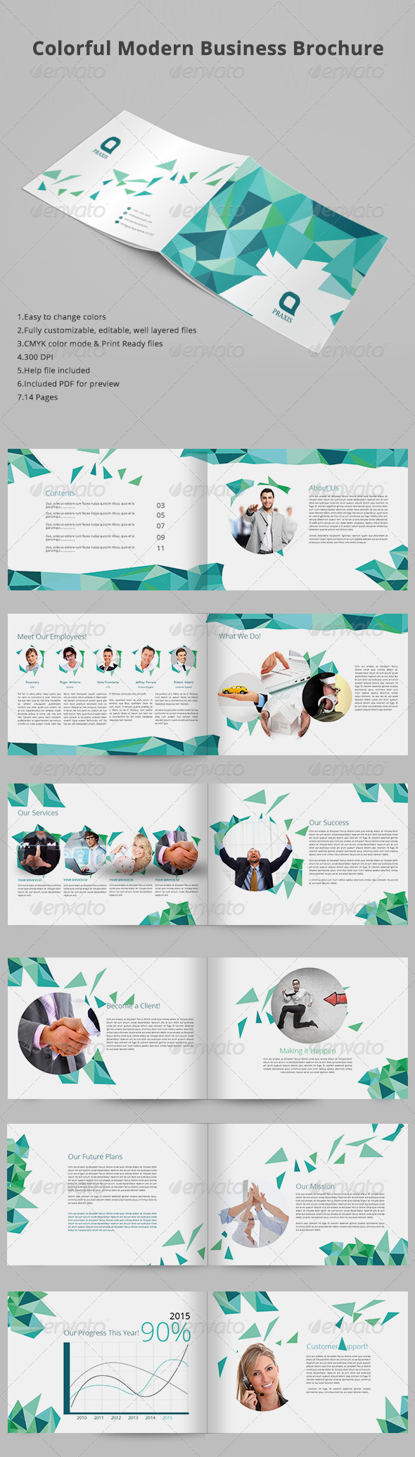GraphicRiver Colorful Modern Business Brochure 8111868
