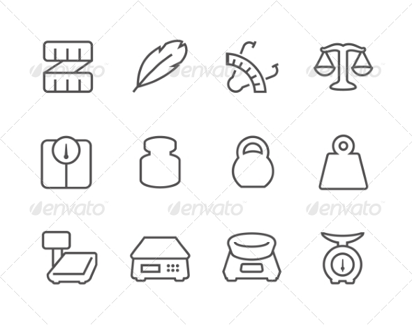 GraphicRiver Outline Scales and Rulers Icons 8111876