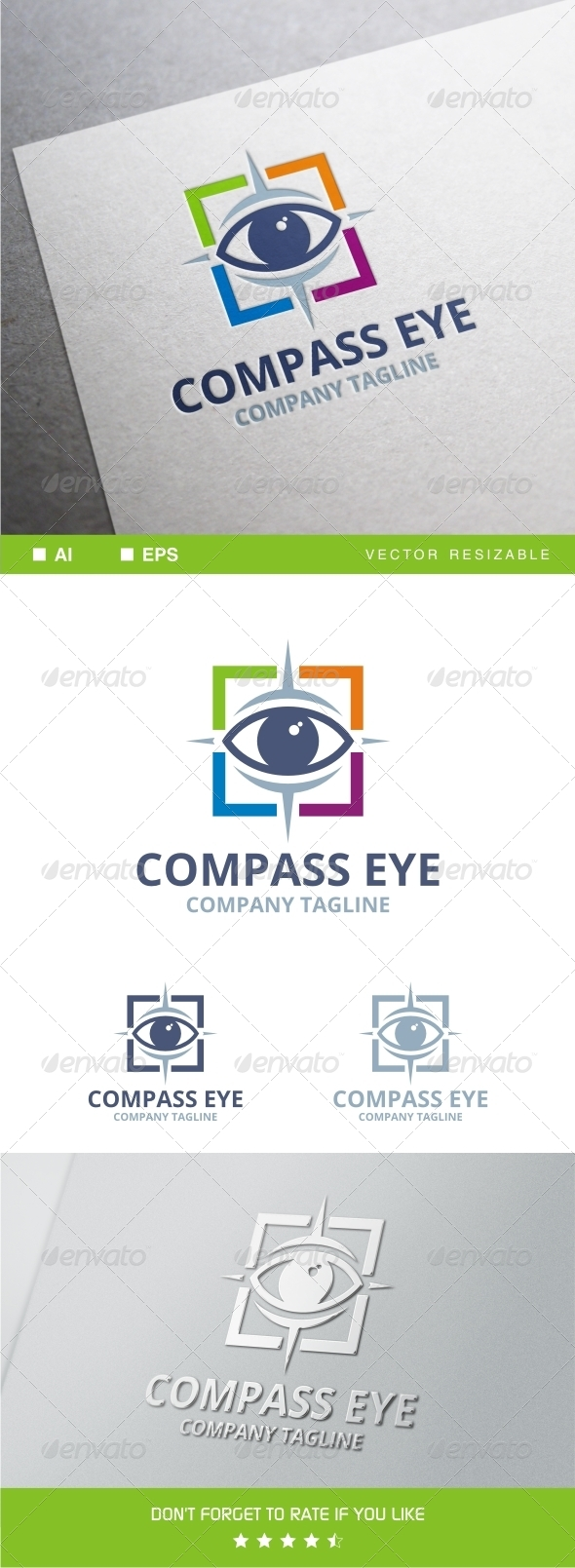 GraphicRiver Compass Eye Logo 8111877