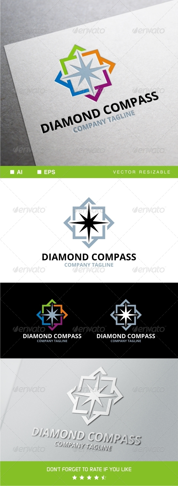 GraphicRiver Diamond Compass Logo 8111946