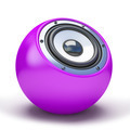 Purple sphere speaker - PhotoDune Item for Sale