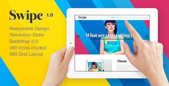 ThemeForest Swipe Responsive One Page HTML Template 8112076