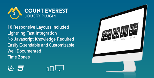 Count Everest Countdown | Responsive jQuery Plugin - CodeCanyon Item for Sale