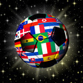 Soccer Ball World Cup Flags on Universe - PhotoDune Item for Sale