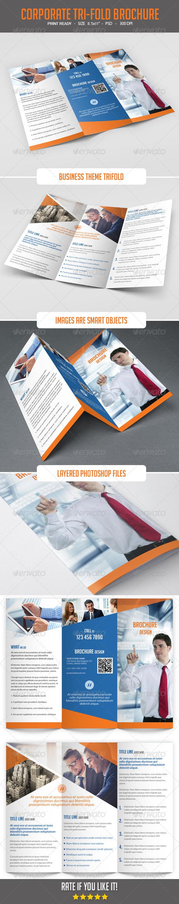 GraphicRiver Corporate Tri-Fold Brochure 8112379