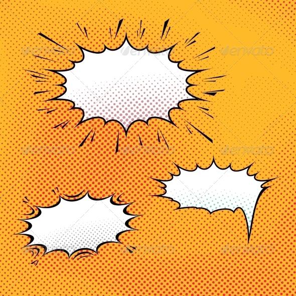 GraphicRiver Comic Speech Bubble Art Background 8112411