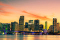 Famous cIty of Miami, summer sunset - PhotoDune Item for Sale
