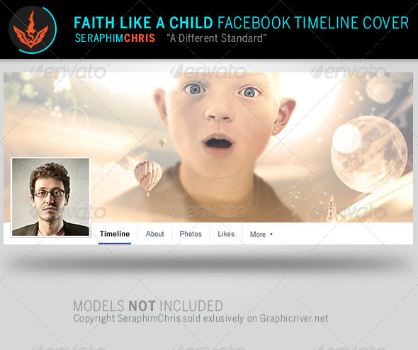 GraphicRiver Faith Like a Child Facebook Timeline Template 8112591