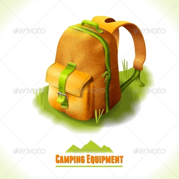 GraphicRiver Camping Symbol Backpack 8112609