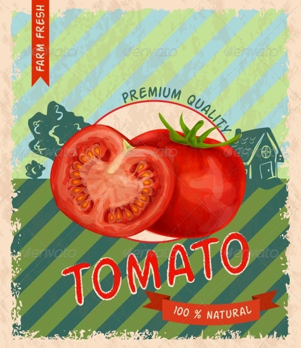 GraphicRiver Tomato Retro Poster 8112656