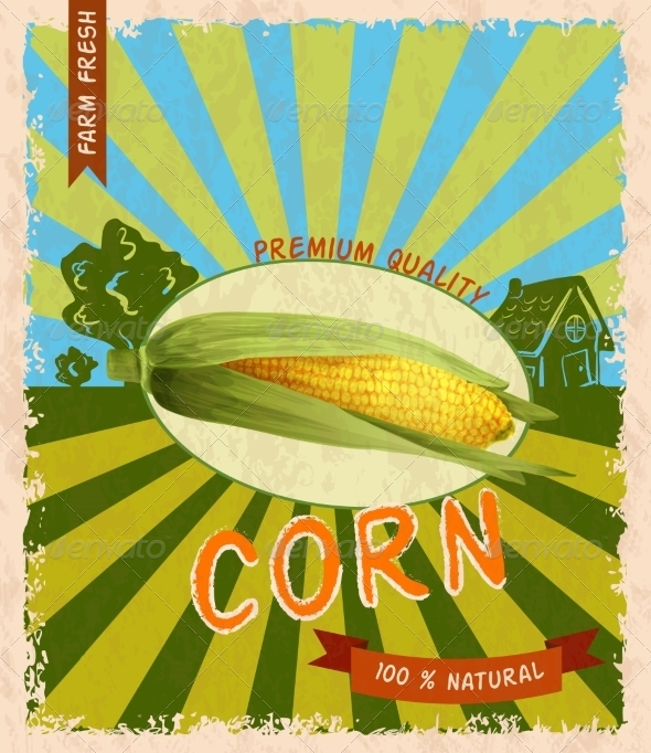 GraphicRiver Corn Retro Poster 8112663