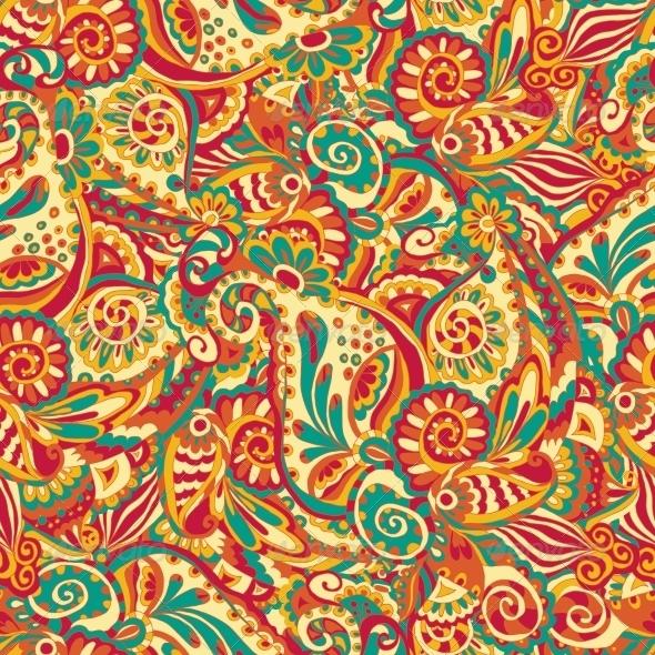 GraphicRiver Ornamental Seamless Pattern 8112669
