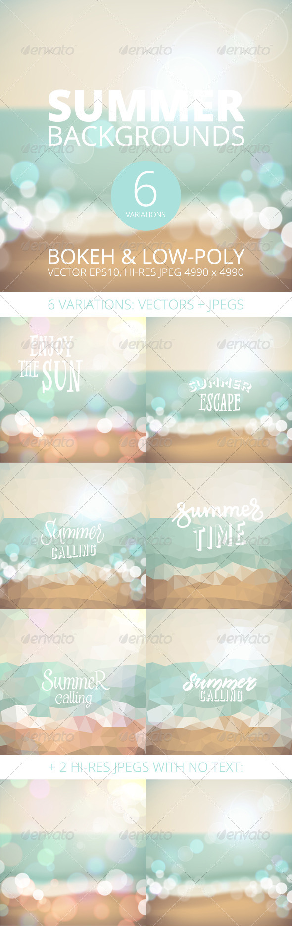 GraphicRiver Summer Holiday Tropical Beach Background 8112683