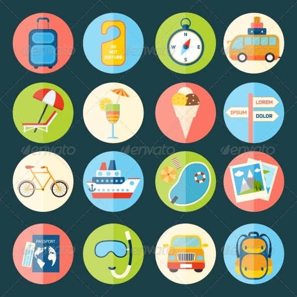 GraphicRiver Travel Icons Set 8112688