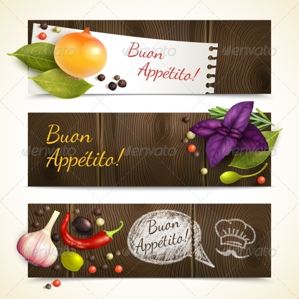 GraphicRiver Herbs and Spices Horizontal Banners 8112700