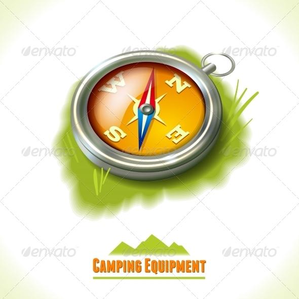 GraphicRiver Camping Symbol Compass 8112702