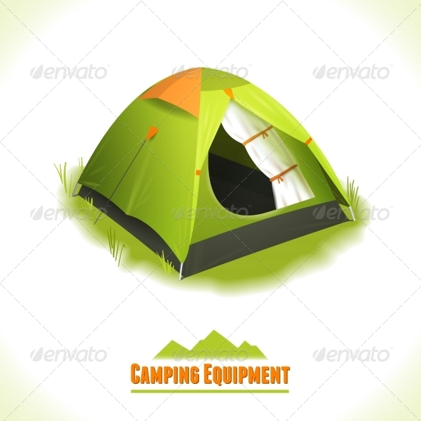 GraphicRiver Camping Symbol Tent 8112705