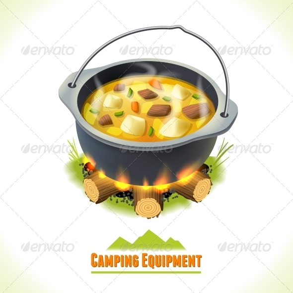 GraphicRiver Camping Symbol Food Pot 8112707