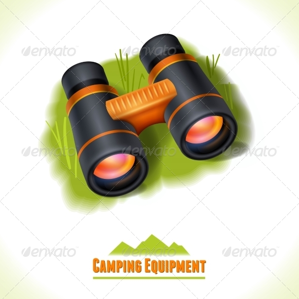 GraphicRiver Binocular Camping Symbol 8112712