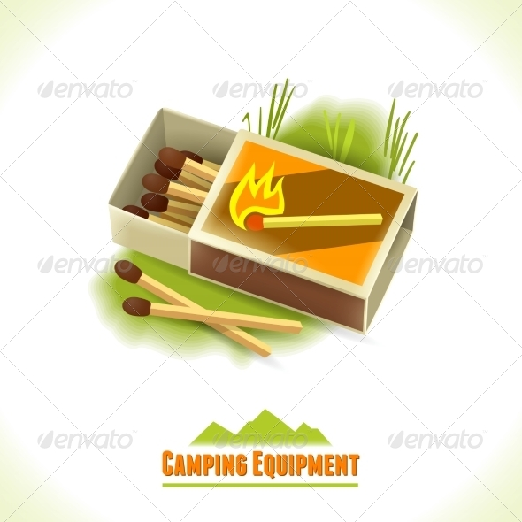 GraphicRiver Camping Symbol Matches 8112714