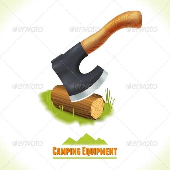 GraphicRiver Axe Camping Symbol 8112715