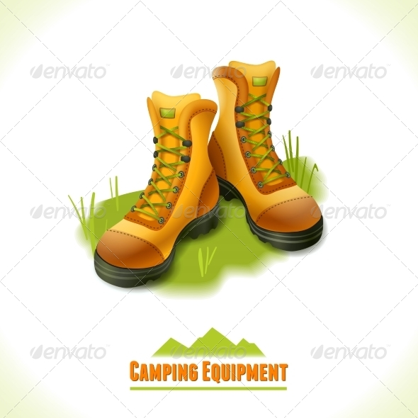 GraphicRiver Boots Camping Symbol 8112716