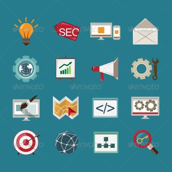 GraphicRiver SEO Icons Set 8112717