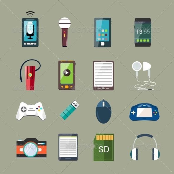 GraphicRiver Gadget Icons Set 8112719