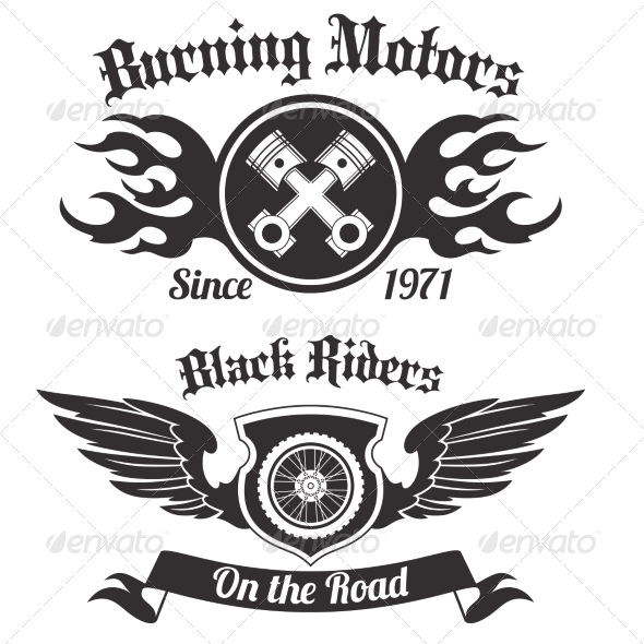 GraphicRiver Motorcycle Labels 8112721