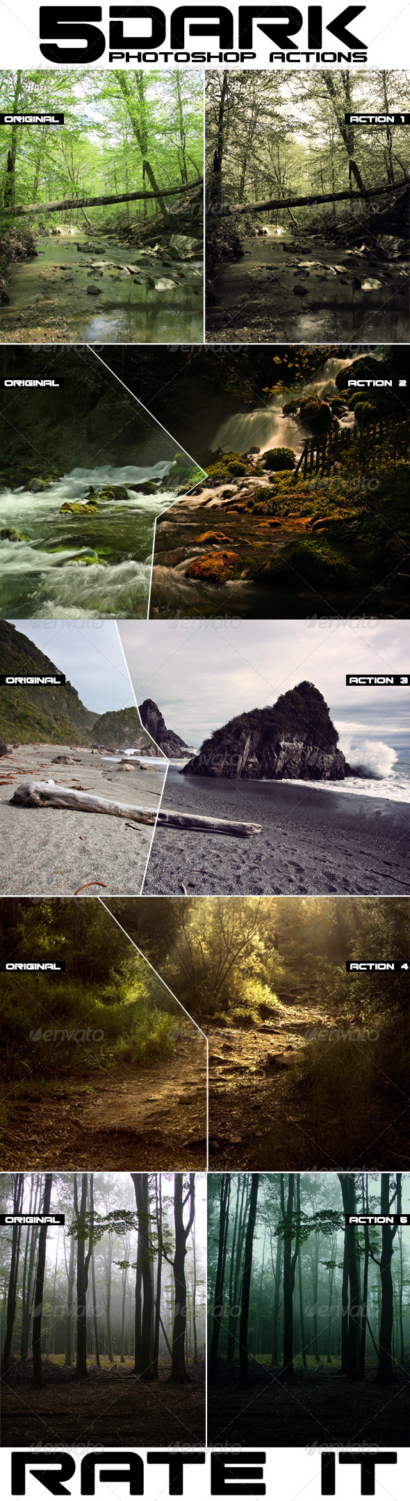 GraphicRiver Dark Photoshop Actions 8112373